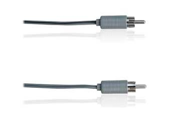 12-Ft. Speaker Cable With Rca Plugs (Gray)