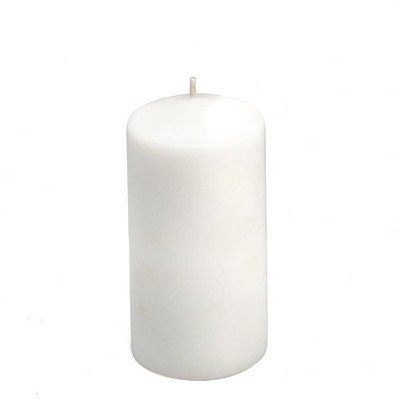 Unscented Pillar Candle Color: White, Size: 3