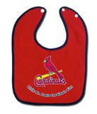 ST. LOUIS CARDINALS Team Logo Terry Velour Snap BABY BIB