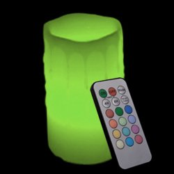 Candle Choice 3.1*6'' Paraffin Wax Dripping Round Pillar Multi-Color Flameless Led Candle With Remote