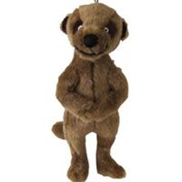 Super Squeaky Meerkat Cuddly Dog Toy, Single Item