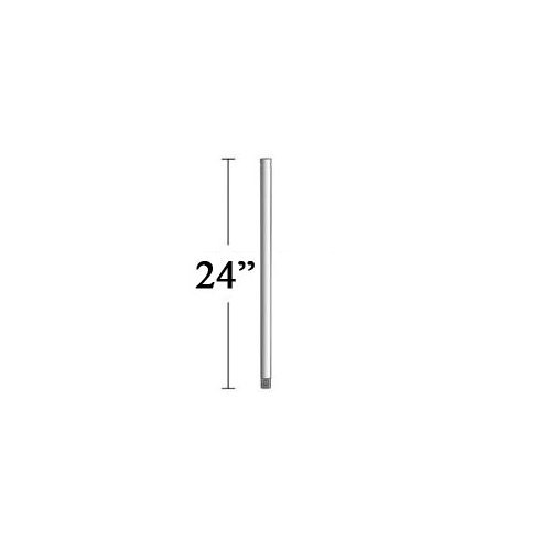 minka-aire-dr524-abd-24-downrod-brushed-aluminum