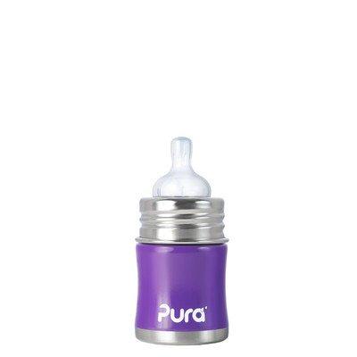 Pura Kiki Infant Bottle Stainless Steel, Grape, 5 Ounce