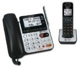 AT&T 84100 DECT 6.0 Corded/Cordless Phone, Black/Silver, 1 Base and 1 Handset
