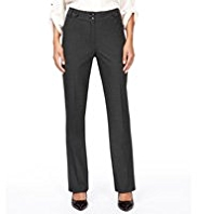 M&S Collection Button Tab Straight Leg Trousers