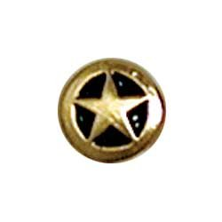 """Tandy Leathercraft Small Gold/black Star Concho 3/8"""" 7757-01"""