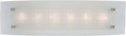 George Kovacs P5070-077, Pillow Glass Wall Vanity Lighting, 6 Light, 108 Total Watts, Chrome