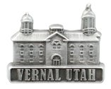 LDS Mens Vernal Utah Temple Silver Steel Tie Tac / Tie Pin for Boys