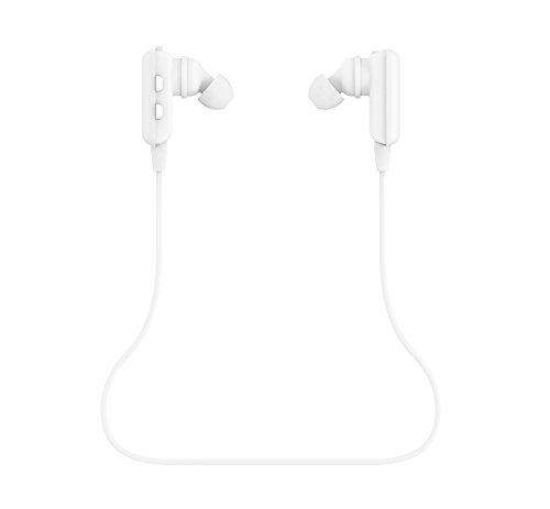 ShoppingU ワイヤレスBluetoothイヤホン Bluetoothワイヤレスヘッドセット Iphone 5S 5C 4S 4, Ipad 2 3 4 New iPad, Ipod, Android, Samsung Galaxy,スマートフォン等のブルートゥース設備対応 スポーツ、 運動に最適、通話、音楽 (ホワイト)