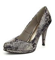 M&S Collection Faux Snakeskin Platform Court Shoes with Insolia®