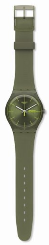 Swatch Originals Olive Rebel Silicone Strap Green Dial Men&#8217;s watch #SUOG700