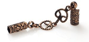 """4.5Mm (5/32"""") Antique Copper Glu-N-Go End Caps, Jewelry Findings-Clasps"""