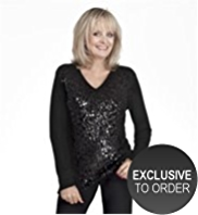 Twiggy for M&S Collection Front Sequin Jumper with Angora