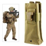 Tactical Military Water Bottle Kettle Bag (Yellow)