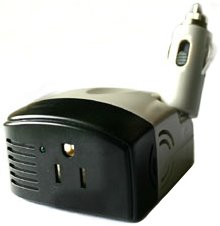 STK's INVERTER 150W Continous Power - 450W Surge Capability. This Smart Mobile Inverter converts 12V DC to 120 AC house power to charge or power iPhones, iPads, Laptops, Kid's games or other electronics devices for camping or emergency use. from STK/Sterl