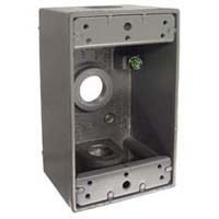 Hubbell Raco 5230-0 Single Gang 3-1/2-Inch Outlets Weatherproof Box