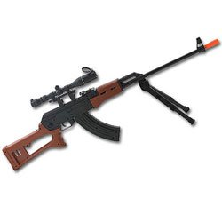 Air Spring Rifle with Bipod and Scope (Airsoft)