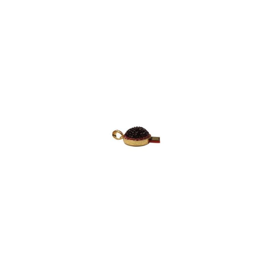 8GB Woman Hat Jewellery Cartoon USB Flash Drive Fuchsia