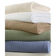 """Ralph Lauren Classic Premium Cotton Blanket Cream/ Ivory Full/Queen 90"""" X 90"""" front-987356"""