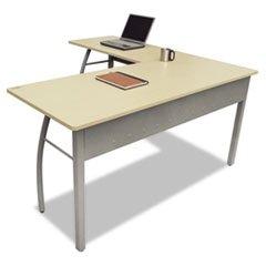 ** Trento Line L-Shaped Desk, 59w x 59d x 29-1/2h, Oatmeal **