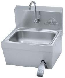 Sink Hand W/kneevalve Wall Mnt - Knee Valve Operated Hand Sink, Advance Tabco - Model 58003-104