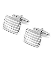Striped Rectangular Cufflinks