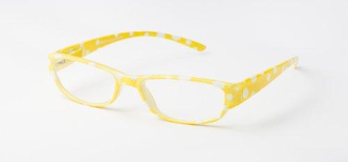 loudspecs-gafas-de-leer-annie-15-con-motivo-de-lunares-amarillo-y-blanco-hombre-y-mujer