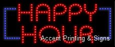Happy Hour Led Sign (High Impact) [Health And Beauty]