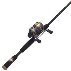 Zebco 33602m bite alert spincast fishing rod and reel for Open reel fishing pole