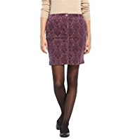 M&S Collection Cotton Rich Floral Corduroy Mini Skirt