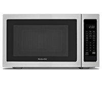 Black Cabinet%2Fstainless Doors Kitchenaid%28R%29 2%2E2 Cu%2E Ft%2E%2C 1200W Countertop Microwave Oven