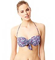 Halterneck Spotted Underwired Bikini Top