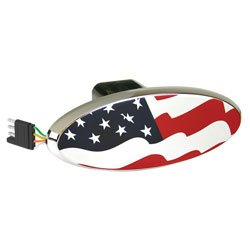 Us Flag Led Lighted Hitch Cover Oval-2Pack
