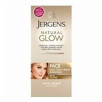Jergens Natural Glow Healthy Complexion Daily Facial Moisturizer SPF 20, Fair To Medium Skin Tones 2 oz