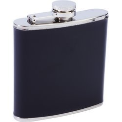 Maxam® 6oz Stainless Steel Flask with Black Wrap