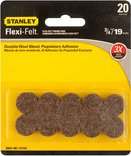 Stanley Hardware S849-180 V1732 3/4-Inch Flexi-Felt Round Self-Adhesive Pads, Brown front-916966