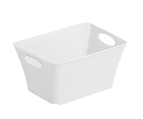 1794801100 Design Aufbewahrungsbox Living aus Kunststoff PP, universell einsetzbar, 1.5 L, circa 18 x 13.5 x 9 cm, weiß