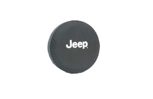 Genuine Jeep Accessories 82209952AB Cloth Spare Tire Cover with Jeep Logo