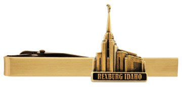 LDS Rexburg Idaho Temple Gold Steel Tie Bar - Tie Clip - Priesthood Gift, LDS Missionary, Tie Clip