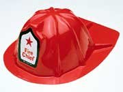 12 kids /child Fire Chief Firefighter hats - one dozen