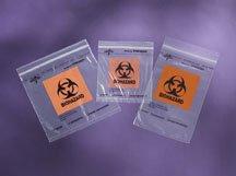 Bag, Specimen, Biohazard, Ziplok, 8X8, Pockt