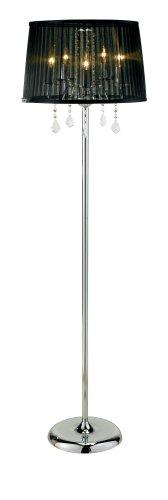 Adesso Cabaret Floor Lamp, Chrome
