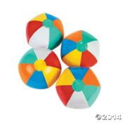 """Inflatable 9"""" Rainbow Color Beach Balls (12 Pack) - 1"""