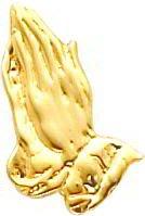 14K Gold Praying Hands Tie Tac