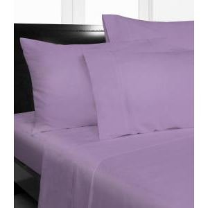 "400 Tc 4 Pc Sheet Set Full Xl Size Solid Lilac Fits Mattress Upto 18"" Deep By Jay'S Home Goods front-390657"