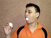 Eggs From Mouth Production Magic Trick