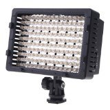 ePhoto DV160 160 LED 5400K Pro Super Bright Dimmable Camera Video Shoe Mount Light Panel with 3 Filters