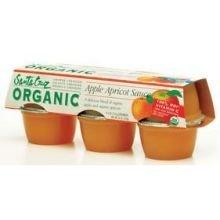 Santa Cruz Organic Apple Apricot Sauce Cup, 4 Ounce -- 72 per case. by Santa Cruz