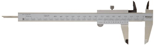 Mitutoyo 536-310 Vernier Caliper, Stainless Steel, 0-150mm Range, +/-0.05mm Accuracy, 0.05mm Resolution