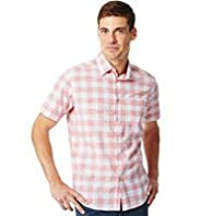 Pure Cotton Slub Gingham Checked Shirt